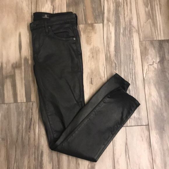 Anthropologie Denim - Anthropologie faux leather skinny jeans